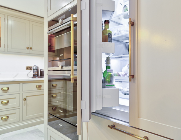 Refrigerator and Cabinets