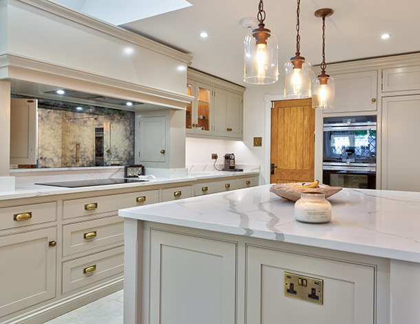 elegant kitchen marble surface